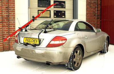 Ski carriers on Mercedes