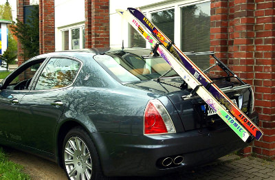 Ski carriers on Maserati