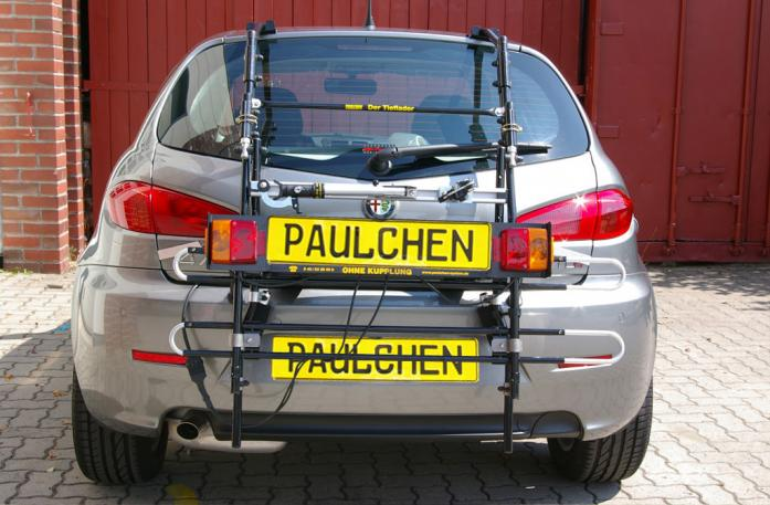 Alfa Romeo 147 Bike carrier with comfort load extension in standby position. Without trailer hitch!