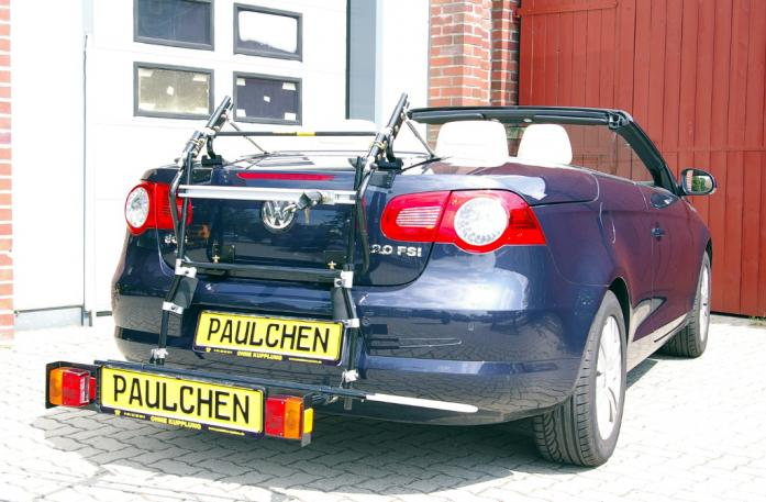 Volkswagen EOS Bike carrier with comfort load extension in loading position. Without trailer hitch!