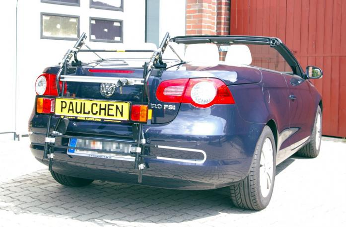 Volkswagen EOS Bike carrier with comfort load extension in standby position. Without trailer hitch!
