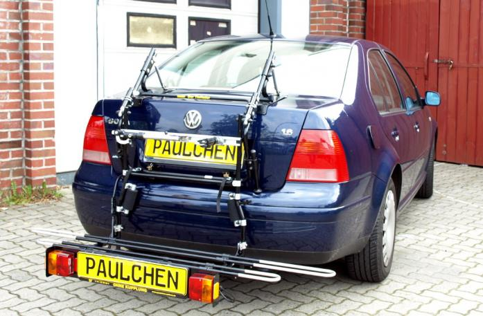 Volkswagen Bora Stufenheck Bike carrier with comfort load extension in loading position. Without trailer hitch!