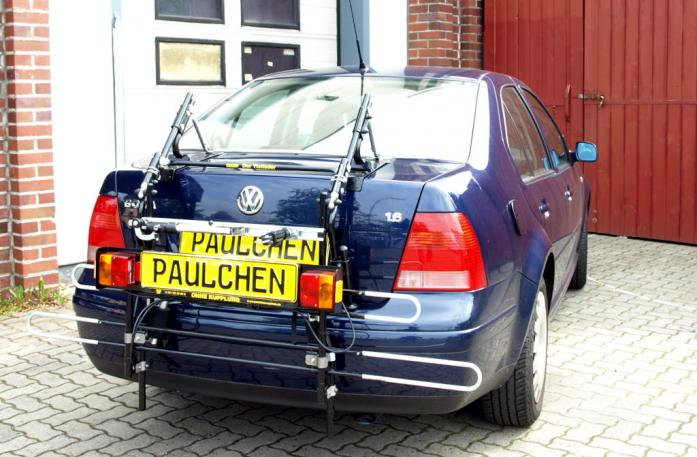 Volkswagen Bora Stufenheck Bike carrier with comfort load extension in standby position. Without trailer hitch!