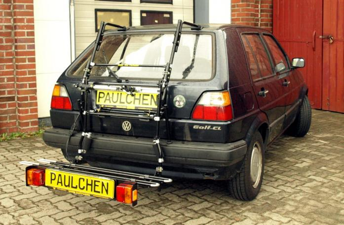 Volkswagen Golf II (1G1) Bike carrier with comfort load extension in loading position. Without trailer hitch!