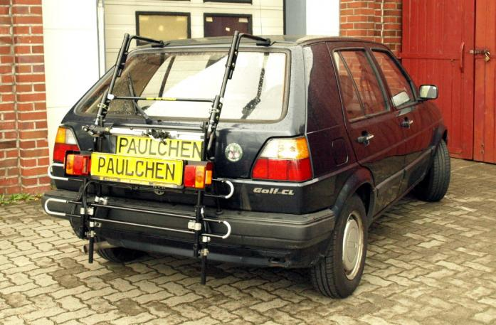 Volkswagen Golf II (1G1) Bike carrier with comfort load extension in standby position. Without trailer hitch!