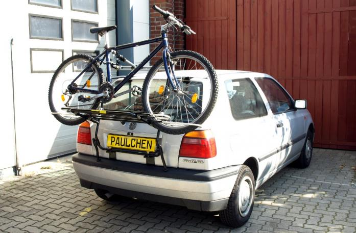 Volkswagen Golf III (1H1) Bike carrier loaded with bike