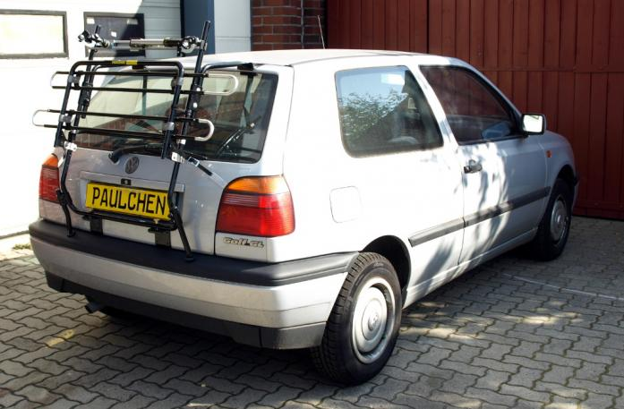 Volkswagen Golf III (1H1) Bike carrier in standby position