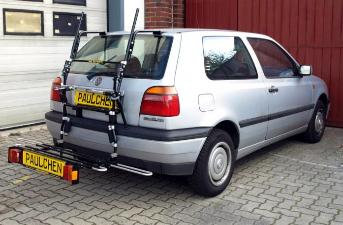 Volkswagen Golf III (1H1) Bike carrier with comfort load extension in loading position. Without trailer hitch!