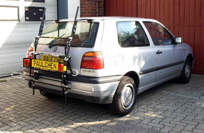 Volkswagen Golf III (1H1) Bike carrier with comfort load extension in standby position. Without trailer hitch!