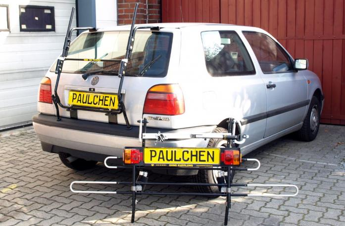 Volkswagen Golf III (1H1) Bike carrier with separated comfort load extension.