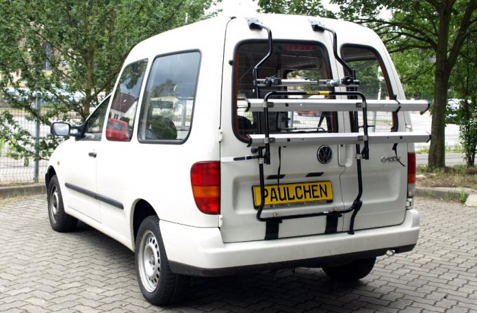 Volkswagen Caddy II Bike carrier in standby position