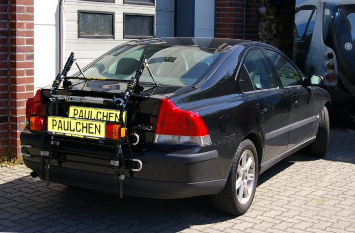 Volvo S 60 Stufenheck (P24) Bike carrier with comfort load extension in standby position. Without trailer hitch!