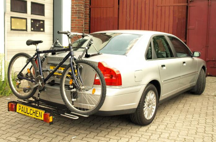 Volvo S 80 (TS) Stufenheck, Facelift Bike carrier with comfort load extension and loaded bike. Without trailer hitch!