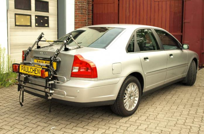 Volvo S 80 (TS) Stufenheck, Facelift Bike carrier with comfort load extension in standby position. Without trailer hitch!