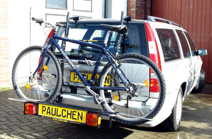Volvo 850 / V70 Combi Bike carrier with comfort load extension and loaded bike. Without trailer hitch!