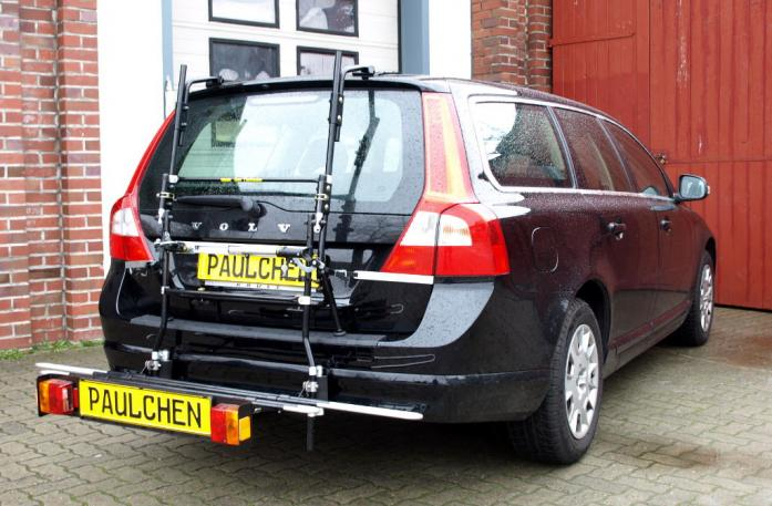 Volvo V70 III Combi / XC 70 Bike carrier with comfort load extension in loading position. Without trailer hitch!