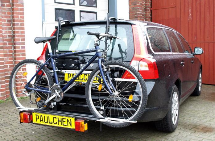 Volvo V70 III Combi / XC 70 Bike carrier with comfort load extension and loaded bike. Without trailer hitch!