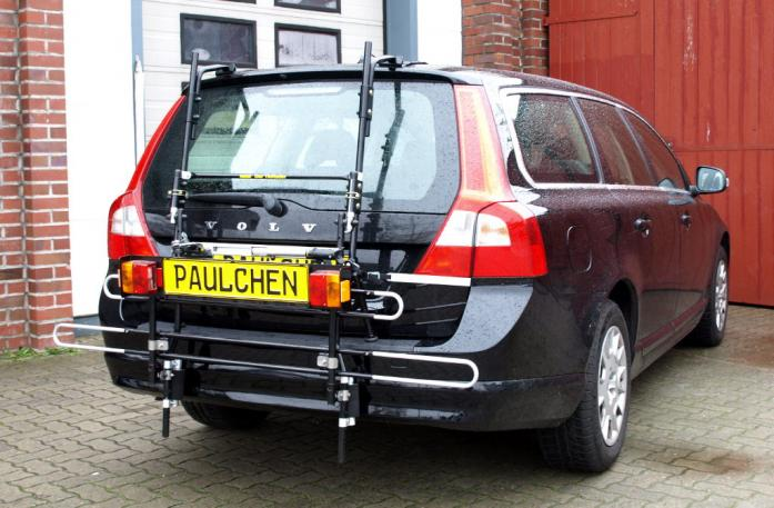 Volvo V70 III Combi / XC 70 Bike carrier with comfort load extension in standby position. Without trailer hitch!