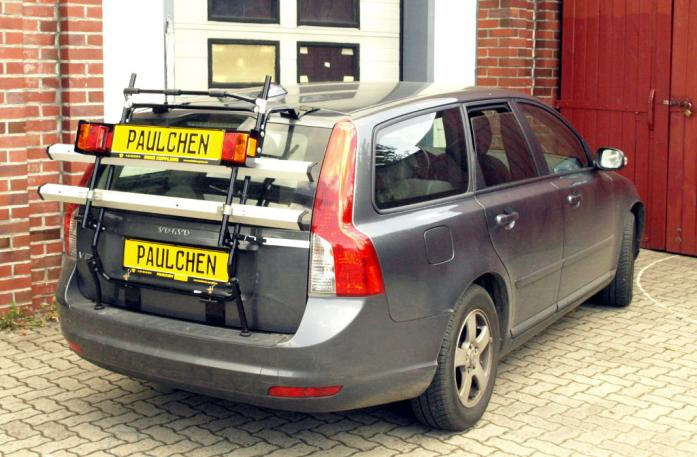 Volvo V 50 Bike carrier with light bar in standby position