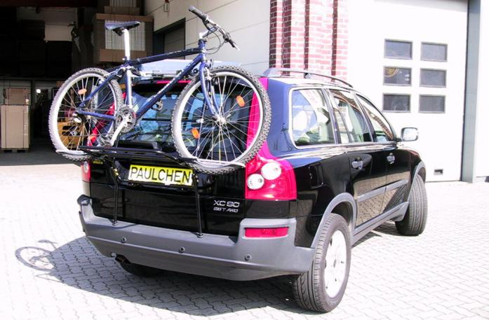 Volvo XC 90 Bike carrier loaded with bike