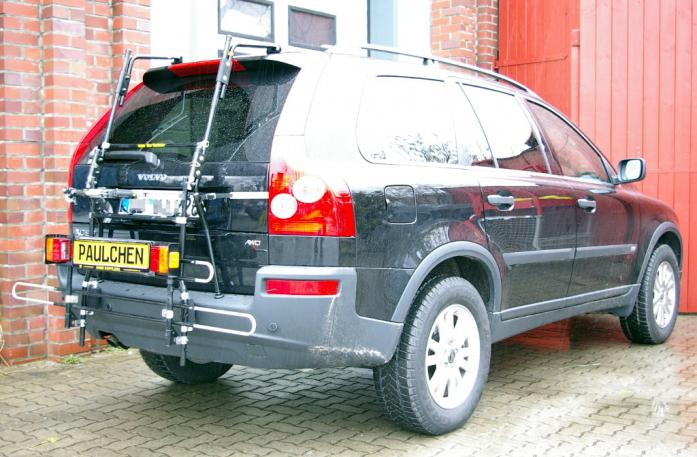 Volvo XC 90 Bike carrier with comfort load extension in standby position. Without trailer hitch!
