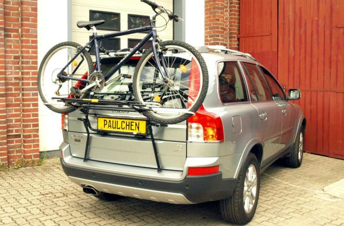 Volvo XC 90 Facelift Bike carrier loaded with bike
