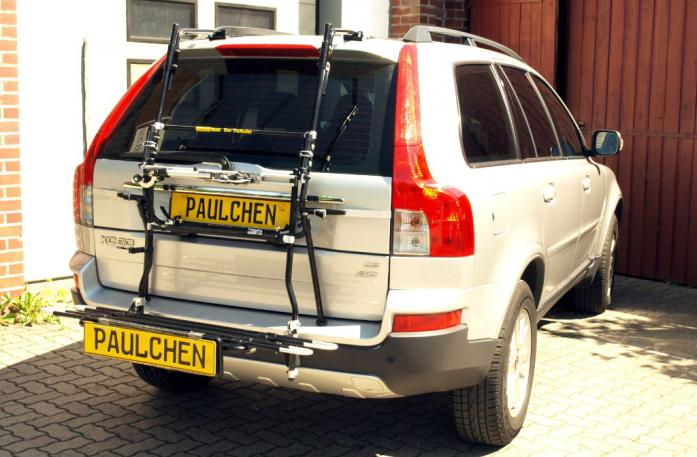 Volvo XC 90 Facelift Bike carrier with comfort load extension in loading position. Without trailer hitch!