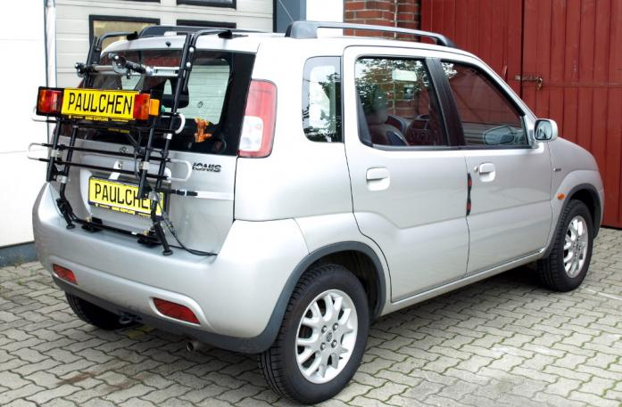 Suzuki Ignis (FH) Bike carrier with light bar in standby position