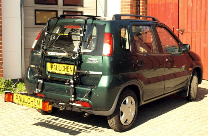 Suzuki Ignis (FH) Bike carrier with comfort load extension in loading position. Without trailer hitch!