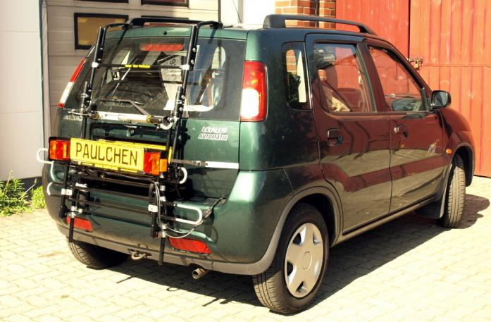 Suzuki Ignis (FH) Bike carrier with comfort load extension in standby position. Without trailer hitch!