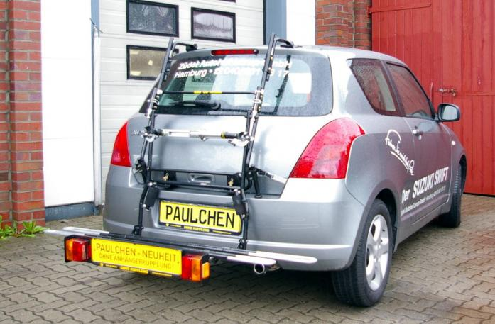 Suzuki Swift (MZ, EZ) Bike carrier with comfort load extension in loading position. Without trailer hitch!