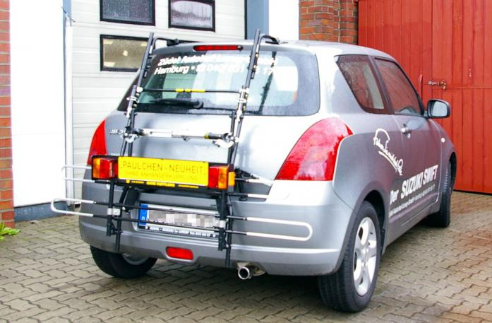 Suzuki Swift (MZ, EZ) Bike carrier with comfort load extension in standby position. Without trailer hitch!