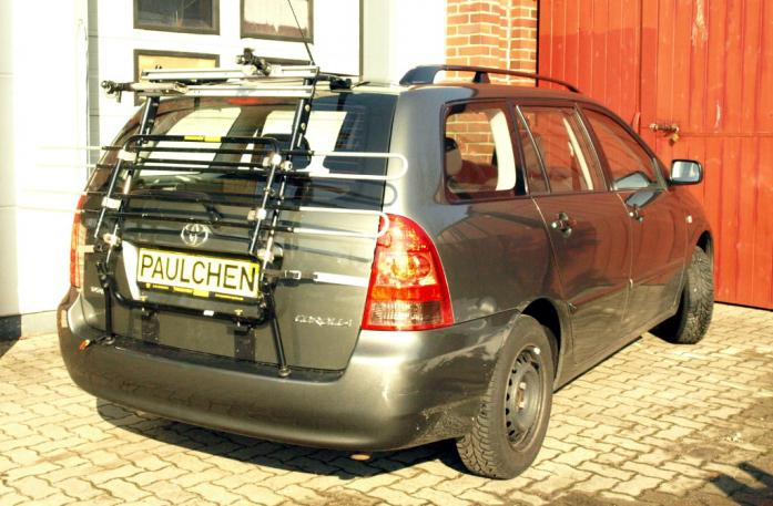 Toyota Corolla Combi (E12) Bike carrier in standby position