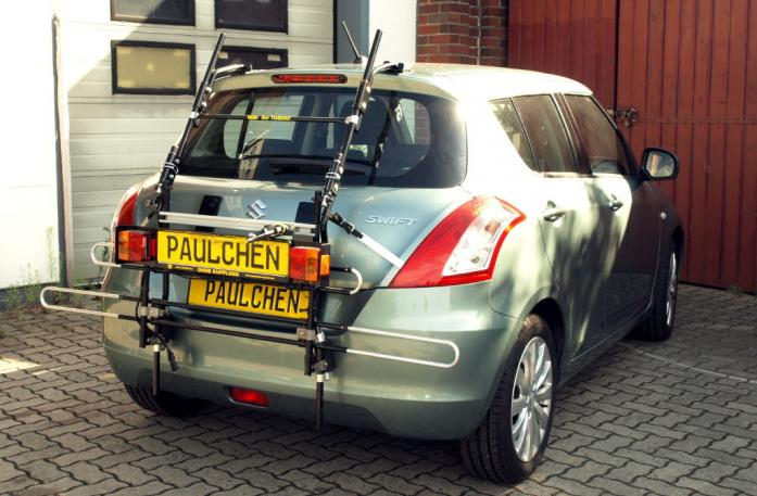 Suzuki Swift IV Bike carrier with comfort load extension in standby position. Without trailer hitch!