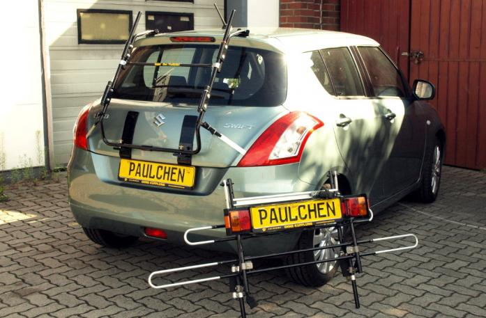 Suzuki Swift IV Bike carrier with separated comfort load extension.