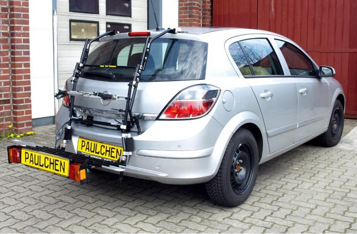 Opel Astra H Schrägheck Bike carrier with comfort load extension in loading position. Without trailer hitch!
