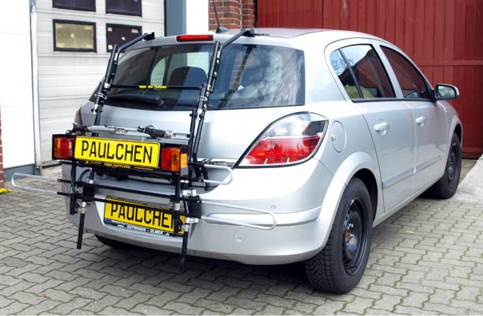 Opel Astra H Schrägheck Bike carrier with comfort load extension in standby position. Without trailer hitch!