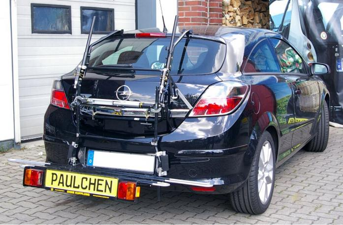 Opel Astra H Schrägheck GTC Bike carrier with comfort load extension in loading position. Without trailer hitch!