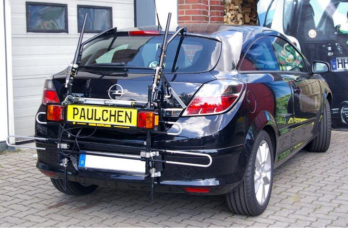 Opel Astra H Schrägheck GTC Bike carrier with comfort load extension in standby position. Without trailer hitch!