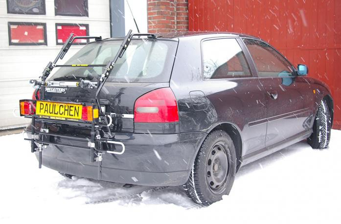 Audi A3 Bike carrier with comfort load extension in standby position. Without trailer hitch!