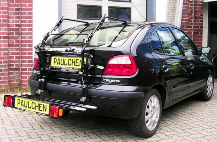 Renault Megane I Bike carrier with comfort load extension in loading position. Without trailer hitch!