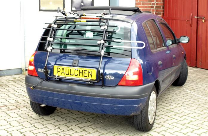Renault Clio 2 (B) Bike carrier in standby position