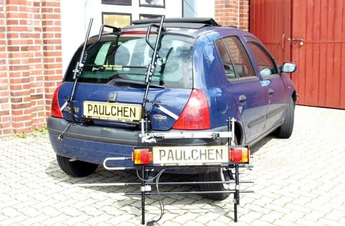 Renault Clio 2 (B) Bike carrier with separated comfort load extension.