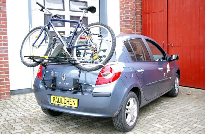 Renault Clio 3 (R) Bike carrier loaded with bike