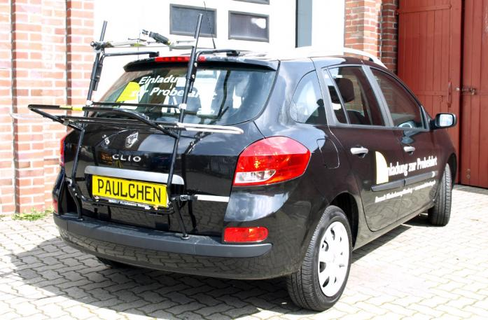 Renault Clio 3 Grandtour (R) Bike carrier in loading position