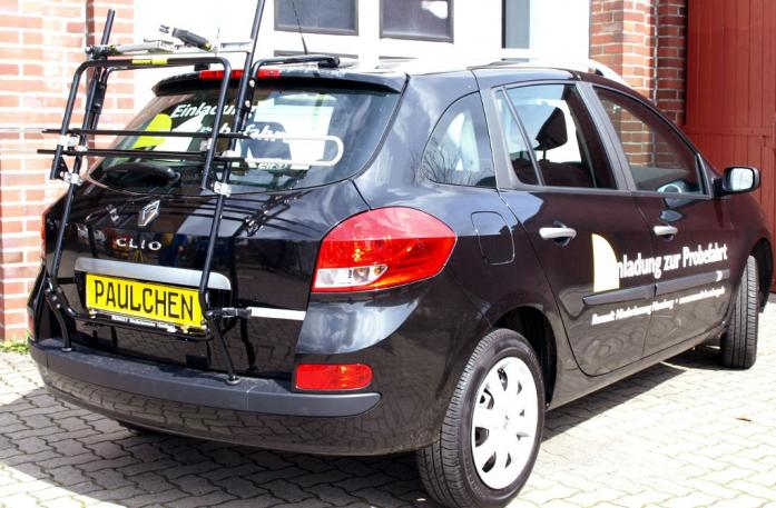 Renault Clio 3 Grandtour (R) Bike carrier in standby position