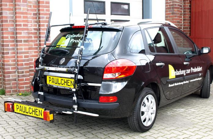 Renault Clio 3 Grandtour (R) Bike carrier with comfort load extension in loading position. Without trailer hitch!
