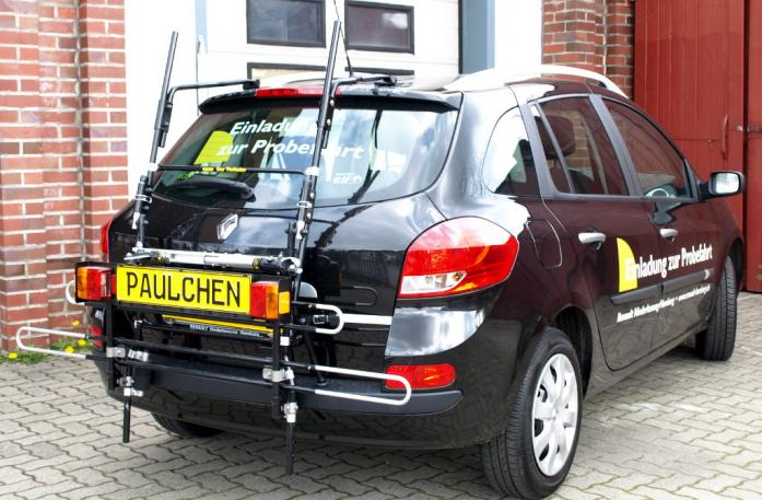 Renault Clio 3 Grandtour (R) Bike carrier with comfort load extension in standby position. Without trailer hitch!