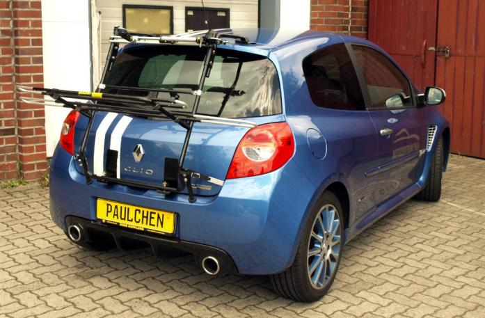 Renault Clio 3 RS (R) Bike carrier in loading position