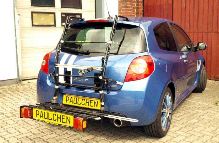 Renault Clio 3 RS (R) Bike carrier with comfort load extension in loading position. Without trailer hitch!